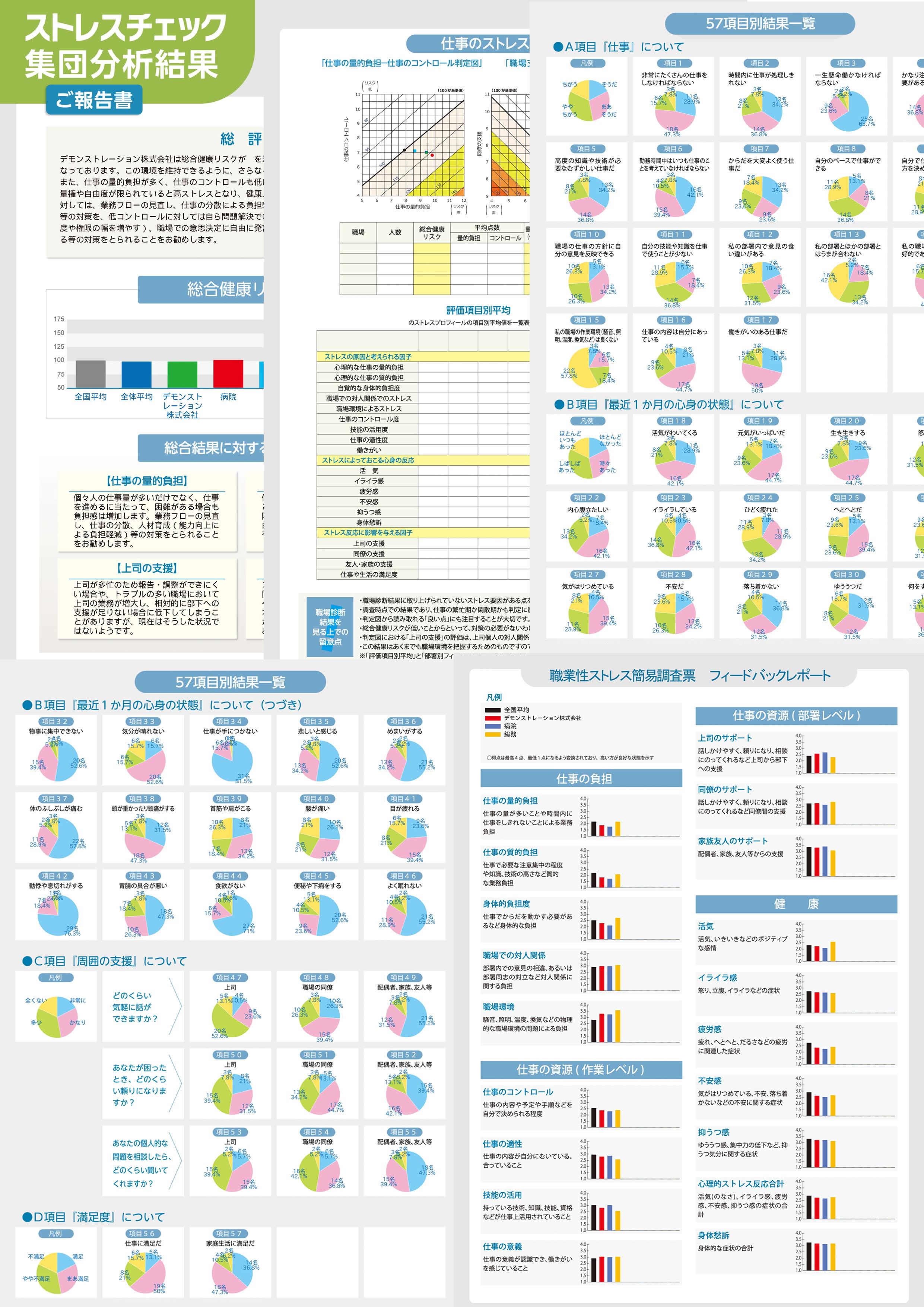 集団分析レポートイメージ